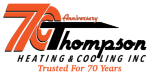 Thompson Heating and Cooling 70th Anniversary Logo